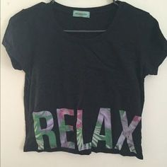 Urban Outfitters Tops - Black Urban Outfitters RELAX tee