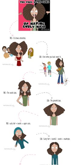 """The Pros and the Cons of Having Curly Hair"" - by Tall-N-Curly"