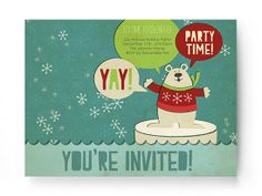 Holiday Bear, UGLY SWEATER PARTY INVITE. :) prints out or can be emailed and a fb posting...FREE