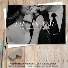 Wedding Thank You Card Printable  Classic Thank by cardcandydotcom