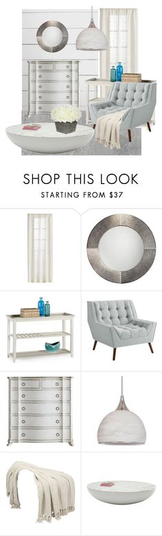 """Off White Decor"" by dundiddit ❤ liked on Polyvore featuring interior, interiors, interior design, home, home decor, interior decorating, Jamie Young, Pier 1 Imports and Craftmade"