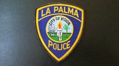 La Palma Police Patch, Orange County, California (Vintage 1988 Issue)