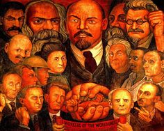 Diego Rivera // Proletarian Unity Giclee on Canvas Print