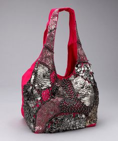 Cute!!!! Fuchsia Metallic Art Hobo by Spring Trends: Embellished Bags on #zulily today!