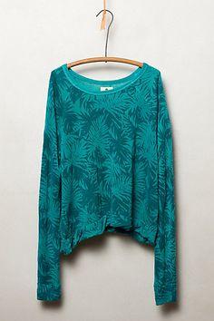 Palm Print Sweatshirt - anthropologie.com