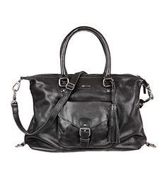 Sac cuir noir détail pompons Elia Ikks women prix Sacs Ikks Monshowroom 280.00 €