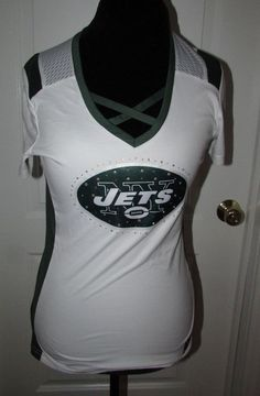 New York Jets Football Draft Me Women s Girlie cut Majestic Top Size Medium 09f133baf
