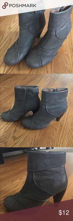 Almost Like Brand Nem Boots Gray Boots that only been worn couple of times. There is almost no sign of wear. Size 7. Clean inside and out. Great Condition. Ship same day or next day depending on what time the item purchased. M2 by Mix Mooz Shoes Ankle Boots & Booties