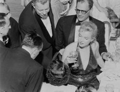 Marilyn with Arthur Miller at the April In Paris Ball at the Waldorf Astoria Hotel, NYC, April 1st 1957.