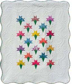 Make just a few go a long way: Nosegay quilt