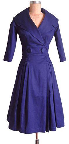 Trashy Diva | Courtney Coat Dress - SALE cobalt