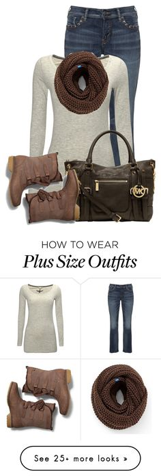 """Untitled #13300"" by nanette-253 on Polyvore featuring Silver Jeans Co., White Stuff, MICHAEL Michael Kors and Keds"