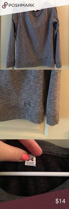 Under Armou Scoop-Neck Sweater Soft, comfortable scoop neck sweater. XS, but fits like a S Under Armour Sweaters Crew & Scoop Necks