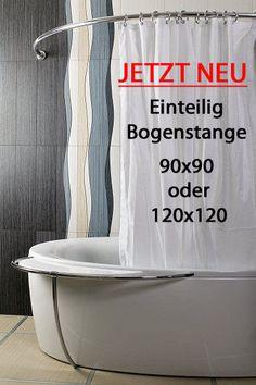 ALU EINTEILIG Duschvorhangstange Bogenstange 120 x 120 Weiß Oval Eckduschstange in Möbel & Wohnen, Badzubehör & -textilien, Duschvorhänge | eBay!