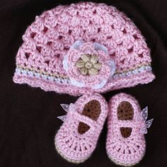 Crochet Pattern Set for Baby Ribbon Maryjane Booties by ebethalan, $10.75