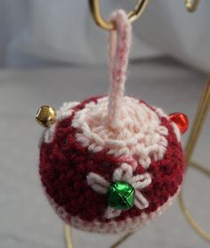 Crochet Round Ornament With Bell Accents by CreativeCrochetbyChris, $3.00 USD