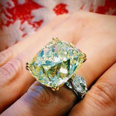 Feel like a 36 carat Intense Yellow Diamond Ring? Estimated around $1 Million Dollars!