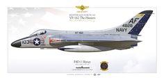 "UNITED STATES NAVYFIGHTER SQUADRON 162 (VF-162) ""The Hunters""USS INTREPID (CVA 11), CVG-6. 1961LCDR Lee Knott"