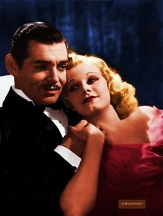 Clark Gable and Jean Harlow from Saratoga