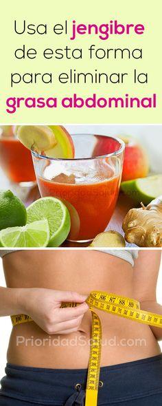 Usa el jengibre de esta manera para perder peso y eliminar la grasa abdominal de forma saludable. #grasa #quemargrasa