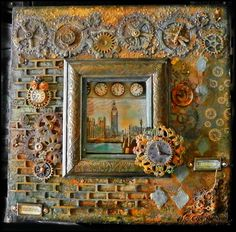 Mixed Media Frame by Nate de Silva using DecoArt Media products.