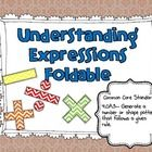 Do you need a way for students to introduce or review expressions with variables?  Use this foldable to have students learn or review these concept...