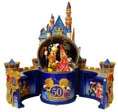 Disney Mickey Minnie 50th Anniversary Snow Globe