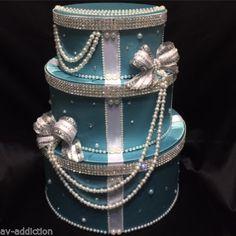 Tiffany-Style-Wedding-Money-Box-card-box-Money-Gift-Box-Sweet-16-AQUA