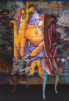 - Trend Hunter has published articles about the many different forms of graffiti before; we have even published an article about graffiti furniture. Graffiti Furniture, Loft Furniture, Furniture Factory, Street Furniture, Funky Furniture, Refurbished Furniture, Contemporary Furniture, Smart Furniture, Furniture Movers