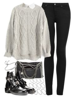 """""""Outfit for winter"""" by ferned on Polyvore featuring Topshop, ASOS, STELLA McCARTNEY, Noir and Monica Vinader"""