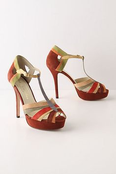 Piled Prism T-Straps - Anthropologie (still out of my price range--even on sale--but just lovely).
