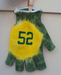 Green Bay Packers Tie Dye Jersey Number Drinking Glove Fingerless Football NFL 12 52 Aaron Rodgers Clay Matthews. $9.00, via Etsy.