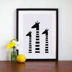 Minimalist Giraffe cross stitch pattern modern cute baby animal design