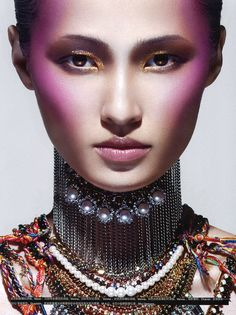 Wang Xiao by Charles Guo for Numero China December 2012 - Eyeshadow Lipstick Makeup Blog, Love Makeup, Beauty Makeup, Makeup Looks, Hair Makeup, Makeup Ideas, Editorial Hair, Beauty Editorial, Foto Fashion