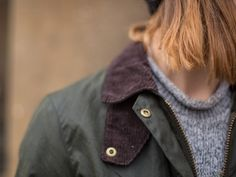 We travelled to Leeds for our first Barbour People city visit of 2017. Where we spotted Abbie wearing her Barbour Cropped Border Wax Jacket from our AW16 Timeless Originals collection.