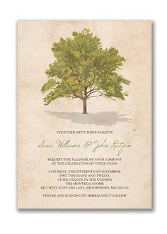 {Sara & John} Tree Rustic Wedding Invitation Vintage by digibuddhaPaperie, $15.00  http://www.etsy.com/listing/80692488/tree-rustic-wedding-invitation-vintage