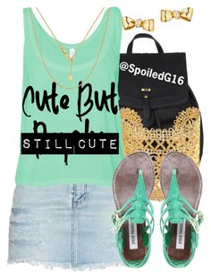 """""""Still Cute!"""" by spoiledg16 ❤ liked on Polyvore featuring Accessorize, Yves Saint Laurent, Stella & Dot and Steve Madden"""