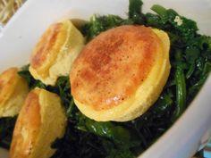 Timbal de queso - Timbal de queso y espinaca - Sformatini di Fontina - Cheese spinach timbales recipe