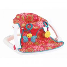 A colorful floor seat to help babies sit up and engage with the world around them.