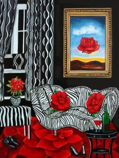 Salvador Dali Inspired Interior Painting by k Madison Moore A Passion for Dali, painting by artist k. Madison Moore