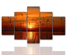 Designbilder 160x80cm 5 teilig auf Leinwand und Keilrahmen Wohnzimmer modern XXL | eBay