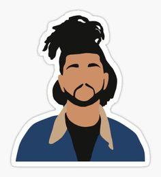 The Weeknd Minimalist Illustration Sticker Tumblr Stickers, Diy Stickers, Printable Stickers, Funny Stickers, Laptop Stickers, Canvas Art Projects, Cool Art Projects, Diy Canvas Art, Pinturas Disney