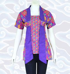 Blus batik atasan wanita kode BM122 http://senandung.net/baju-batik-wanita/blus-batik/