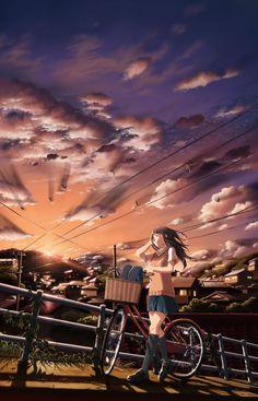 World of two-dimensional in Japan Fan Art Anime, Anime Artwork, Anime Art Girl, Manga Anime, Manga Art, Wallpaper Animes, Kimi No Na Wa, Illustrations, Manga Illustration