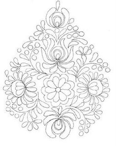 rita barton painted hungarian folk art flowers paint in a monochromatic colour scheme for a beautiful project or practice sheet - PIPicStats Mexican Embroidery, Hungarian Embroidery, Folk Embroidery, Learn Embroidery, Ribbon Embroidery, Embroidery Stitches, Embroidery Patterns, Embroidery Techniques, Fabric Painting