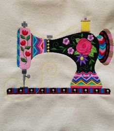 Sewing Machine Embroidery Panel – Quilting Panels – Quilt Blocks – Mother's Day Frame – Sewing Room Decor – Sewing Machine Pillow – quilts Applique Design, Applique Patterns, Quilt Patterns, Sewing Patterns, Tatting Patterns, Sewing Art, Love Sewing, Sewing Crafts, Sewing Projects