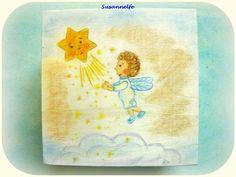 Holzkiste Elfenkind mit Stern Jahreszeitentisch von Susannelfes Blumenkinder  auf DaWanda.com
