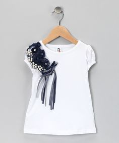 White & Navy Tee - Toddler & Girls  I just entered the #zulily #fall essentials contest! Have you entered yet?