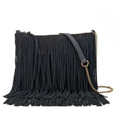 SONOMA Goods for Life™ Marguerite Fringed Crossbody Bag ($42) ❤ liked on Polyvore featuring bags, handbags, shoulder bags, bolsos, black, bolsa, torbe, crossbody handbag, man bag and purse shoulder bag