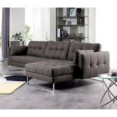 Click to zoom - Paris right hand corner sofa dark grey Dwell